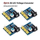 Innovateking-EU 4 pz DC Voltage Converter Step Down 5v Convertitore di Tensione Modulo di Alimentazione Multi-Uscita Convertitore 12 V a 3,3 V / 5 V / 12 V per Arduino