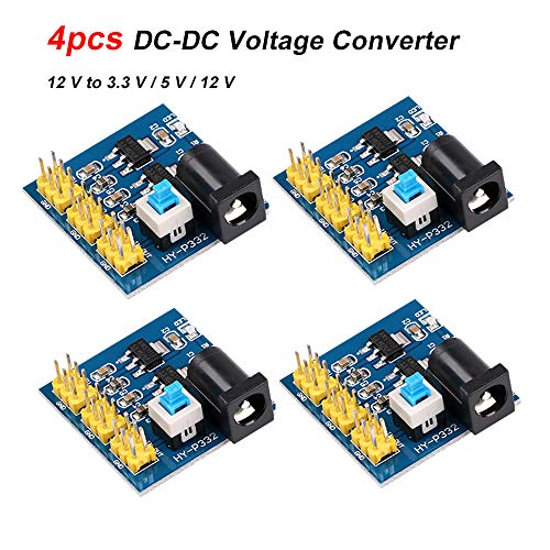 4pcs DC-DC Voltage Step Down Converter Spannungswandler Step Down Module Multi-Output-Netzteilmodul 12 V bis 3,3 V / 5 V / 12 V Konverter-Abwärtsmodul für Arduino Step-down Voltage Converter