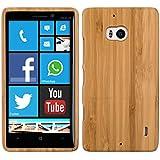 kwmobile Hülle für Nokia Lumia 930 - Bambusholz Case Handy Schutzhülle - Hardcase Cover Hellbraun