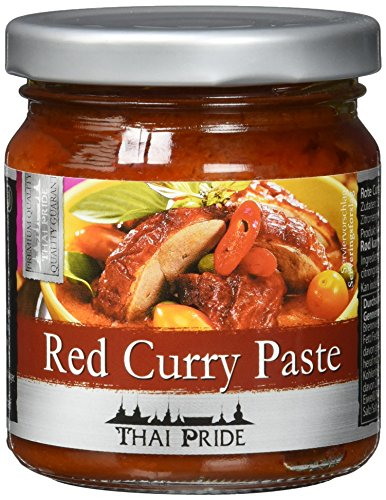 Thai Pride Currypaste, rot, 3er Pack (3 x 195 g) (Red Curry Paste Thai)