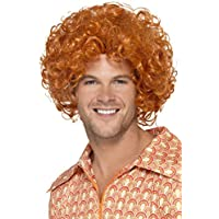 Smiffys Smiffys-43654 Peluca Rizada a lo Afro, Color Jengibre, No es Applicable