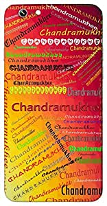 Chandramukhee (As Beautiful as Moon) Name & Sign Printed All over customize & Personalized!! Protective back cover for your Smart Phone : Apple iPhone 6