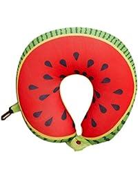 Fruit T almohadilla en forma de nanopartículas del amortiguador almohadilla del cuello del coche Almohada de viaje Office-sandía