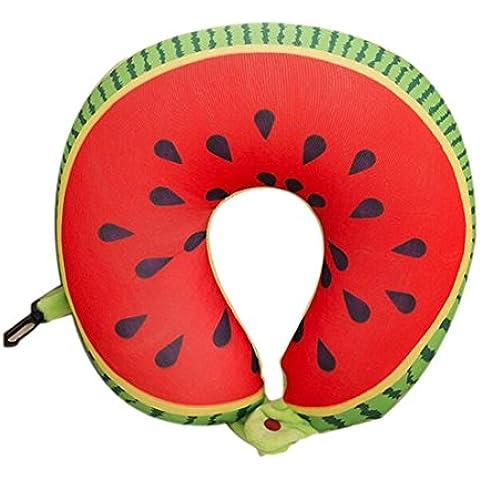 Fruit T almohadilla en forma de nanopartículas del amortiguador almohadilla del cuello del coche Almohada de viaje
