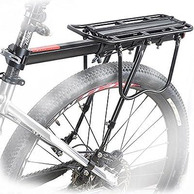 Gepäckträger, Calar Einstellbare Träger Fahrrad Gepäckträger Fahrradzubehör Ausrüstung Ständer Reitstock Fahrradträger Racks Sattelstütz mit Reflektor Für Fahrrad Mountainbike