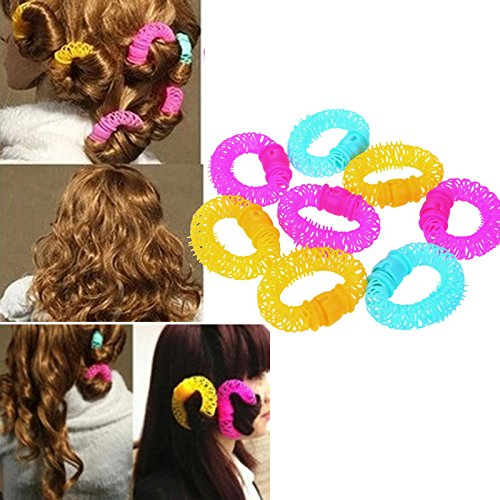 6 pcs/set Magic Beauty Spiral Curly Ringlets Circles Hair Accessories Hair Styling Tools Lucky Donuts Curly Hair Curls Roller