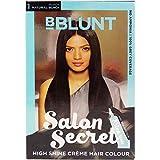 #7: BBLUNT High Shine Creme Hair Colour - Natural Black 1, 100g + 8ml Pack