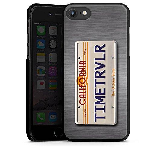 Apple iPhone X Silikon Hülle Case Schutzhülle Nummernschild Future Zeitreise Hard Case schwarz