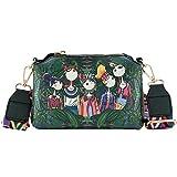 LONGBLE Damen Grün Crossbody Clutch Modische Mädchen und Blumen Kette Schultertasche Abdeckung Kuriertaschen Shopper Tasche Kosmetiktasche