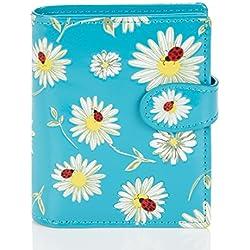 Shagwear - Monederos para mujeres jóvenes: Varios colores y diseños: (Margaritas Y Mariquitas/Daisies and Bugs)