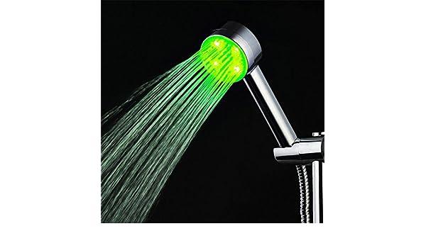 Soffione doccia led illuminazione cromoterapia shower head veloce