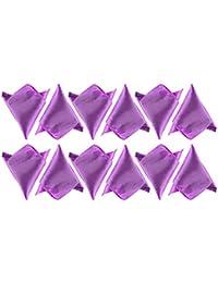 BOOLAVARD Satén 1 unids, 6 unids o 12 unids Pack Solid Plain Wedding Mens Pocket Square Office Traje pañuelo pañuelo