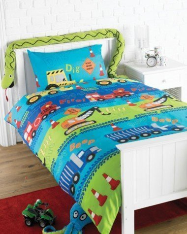 'Road Works' Children's Single Duvet Set