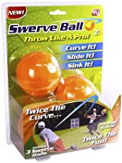 As Seen On TV boys' Swerve Ball-Throw Like a Pro which is made with acrylic, (SWERVB, Orange and yellow) -Pack of 3