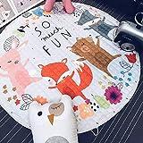 BEAUTIFULNUHAI Für Christmas1.5m Baumwolle Teppich Runde Kinder Gym Rug Spielmatte Baby Spielzeug Beutel Baby Krabbeln Decke Outdoor Pad j