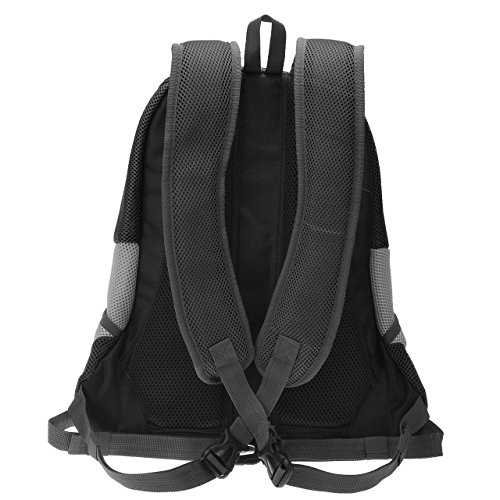Septven Hohe Qualität Atmungsaktiv Haustier Hund Katze Tasche Rucksack für Hunde Hunderucksack (L, Schwarz) -