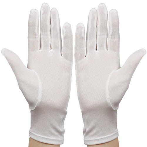 White-Silk-Gloves