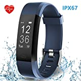 HolyHigh Smart Band with Fitness Tracker Heart Rate Monitor IPX67 Waterproof Call SMS
