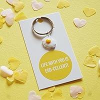 Life With You Is Eggcellent, Egg Pun Keyring, Novelty Keyring Gift