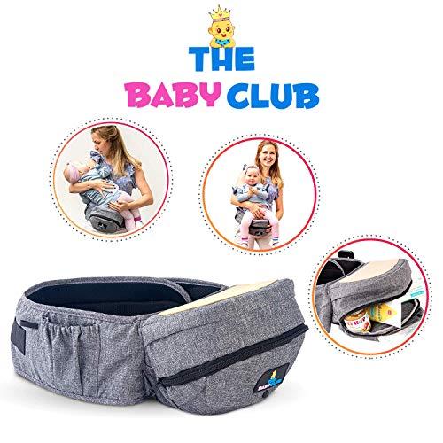 Marsupio Neonato The BabyClub Lunico Marsupio con Seggiolino da Anca Certificato Nuovo Marsupio Neonati Ergonomico Baby Carrier Porta Bambino Porta