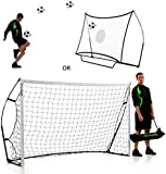 QUICKPLAY Kickster Combo - 2 in 1 Portable Football Goal & Rebounder 8x5'