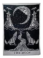 *Tapiz hecho a mano* 100% algodón estampado a mano, lobos aullando a la luna, el tamaño pequeño (S) mide aproximadamente *213,4 x 137,2 cm* Los mandalas son un símbolo espiritual que representa el universo y ayudan a la meditación. Esta bonita pieza ...