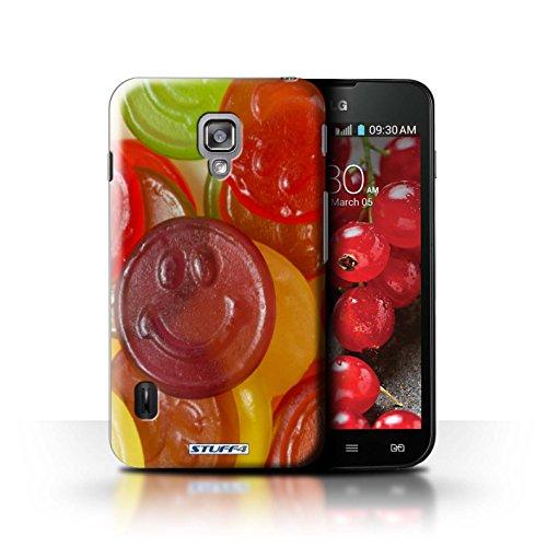 Kobalt® Imprimé Etui / Coque pour LG Optimus L7 II Dual / Smarties conception / Série Bonbons Jelly Faces