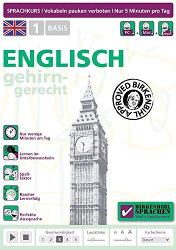Birkenbihl Sprachen: Englisch gehirn-gerecht, 1 Basis Sprachen Lernen Software