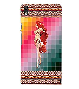 PrintDhaba Bold Girl D-4583 Back Case Cover for HUAWEI ASCEND P6 (Multi-Coloured)