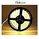 Elinkume 10M Bande Flexible 60 SMD 5050 Bande Flexible Blanc Chaud Bandes LED...