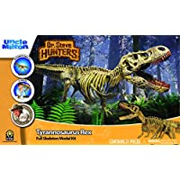 Dr Steve Hunters 91082BF Dinosaur T. Rex Replica Model Skeleton-21 Pieces-1:15 scale-30 inch- Uncle Milton Scientific Educational Toy, Multicolour