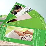 Babykarten Zwillinge, Ruffy 200 Karten, Kartenfächer 210x80 inkl. weiße Umschläge, Grün
