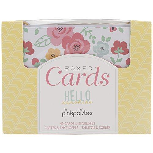 Pink Punch Brads (American Crafts 10,8cm x 14cm pink Paislee A2Karten und Umschläge, Hello Sunshine (40Stück))