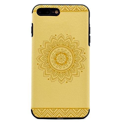 Apple iPhone 7 Plus 5.5 Hülle, Voguecase Schutzhülle / Case / Cover / Hülle / TPU Gel Skin (Datura Blumen/Rosa) + Gratis Universal Eingabestift Datura Blumen/Gelb