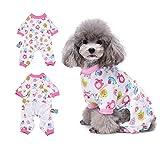 Little Red Horse Pyjama vêtement pour chien confortable Puppy Pyjamsa doux Chien JumpSuit pour homme 100% coton Manteau pour petits chiens et chats par Hongyh