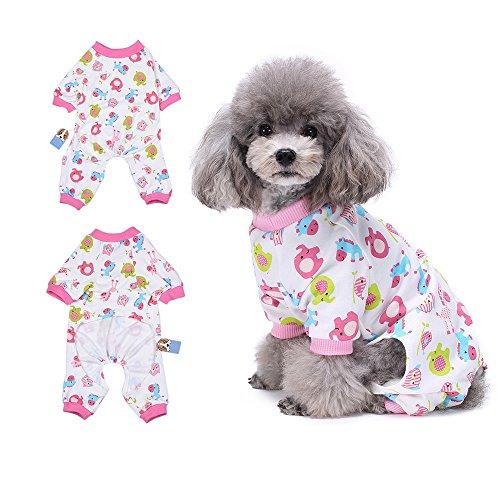 lafanzug Hund Kleidung angenehm Puppy pyjamsa Weich Hund Jumpsuit Shirt 100% Baumwolle Mantel für kleine Hunde und Katzen von hongyh ()