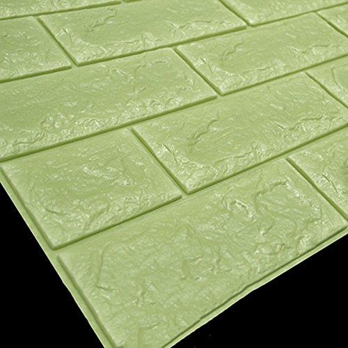 MKABVDFRTEUIBCZB Tapete Einfache Muster Stil tapeten,3D-Stereo DIY Design 10 Dicke Dichte Bad Kindergarten Küche Wasser Beweis PVC wallpape-C 0.70mx0.77m