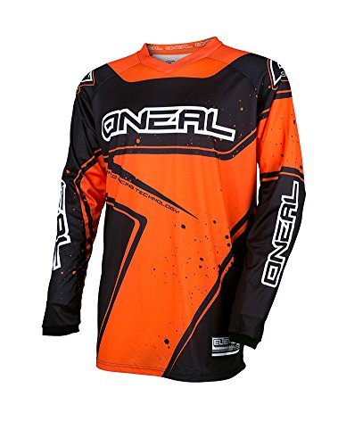 O'Neal Element Racewear Youth Kinder Jersey Orange Schwarz MX MTB DH Trikot Motocross Offroad, 0029-40, Größe XL -