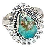 Peruvian Opal, Opale Péruvienne Argent Sterling 925 Bague 7.5