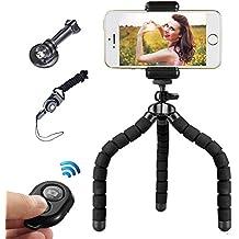 Trípode Flexible Mini Trípode Móvil con Control Remoto Bluetooth para la Cámara Digital y Todos Los Teléfonos Inteligentes Como el iPhone y el Samsung