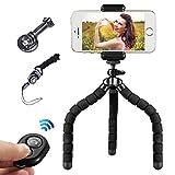 Toppaie Mini treppiede flessibile, per cellulare, con telecomando bluetooth per fotocamera e smartphone, ideale per iPhone e Samsung