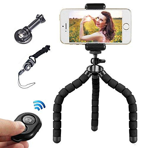 Mini Flexibel Handy Stativ iPhone Stativ mit Bluetooth Fernbedienung für Kamera und Smartphone wie iPhone und Samsung
