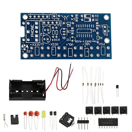 Wireless Stereo FM Radio Receiver Module PCB DIY Electronic Kits 76MHz-108MHz multi-color mixed Fm-modul