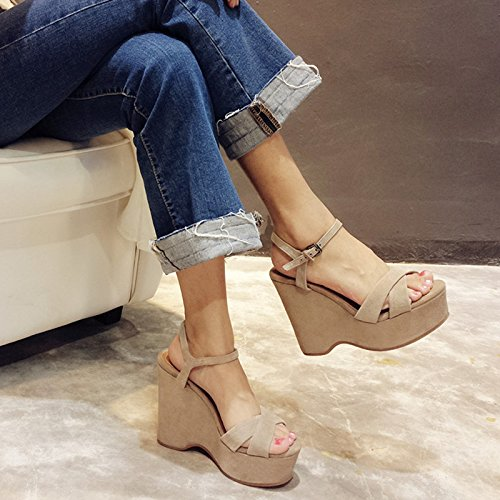 - sandali femminili sandali femminili estate corrisponde tutto nero con le scarpe nuda di colore (11.5cm)