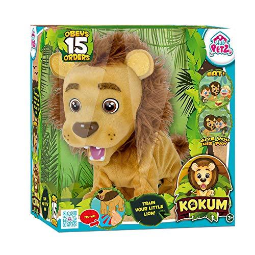 Lionceau interactif - Peluche articulée et sonore - obéit à la Voix à 15 ordres.