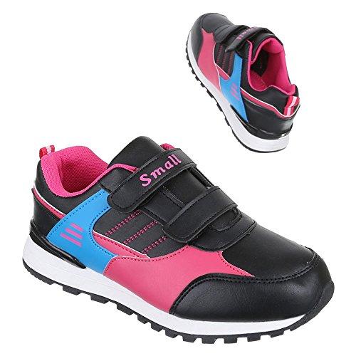 Rosa Kinder Freizeitschuhe Schwarz 1 Schuhe Sportliche S25 Sneakers w0anq0TrF