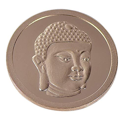 Quiges Rosegold Small Coin 25mm Buddha Gesicht für austauschbare Coinfassung Anhänger Halskette -