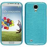 Funda de silicona para Samsung Galaxy S4 - brushed azul - Cover PhoneNatic Cubierta Case