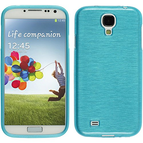 Coque en Silicone pour Samsung Galaxy S4 - brushed bleu - Cover PhoneNatic Cubierta Case