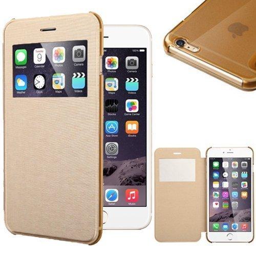 iPhone 6S Hülle, Pasonomi® [Outdoor] [Heavy Duty] [Dual Layer] Ultra-dünne Schutzhülle Case Cover mit Ständer für Apple iPhone 6 (2014) / iPhone 6S (2015) (Kickstand-Schwarz) View-Gold